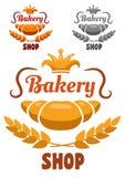 Значок или ярлык магазина хлебопекарни бесплатная иллюстрация