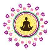 Значок йоги Стоковые Фотографии RF