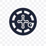 Значок казино прозрачный Дизайн символа казино от collec аркады бесплатная иллюстрация