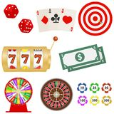Значок казино Стоковая Фотография