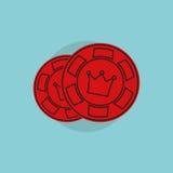 Значок казино Simbol казино Иллюстрация концепции казино Знак казино Казино на плоском стиле Стоковые Фото
