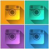 Значок камеры фото битника Стоковая Фотография RF
