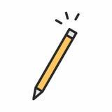 Значок карандаша Стоковое Изображение