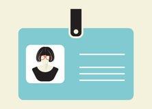 Значок карточки ID Стоковое Изображение RF