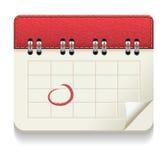 Значок календаря Стоковое Изображение