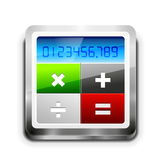Значок калькулятора вектора Стоковые Изображения