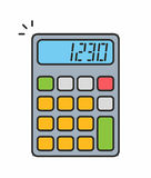 Значок калькулятора Стоковые Фотографии RF