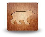 Значок, кнопка, медведь пиктограммы стоковое фото