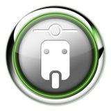 Значок, кнопка, самокат пиктограммы иллюстрация штока
