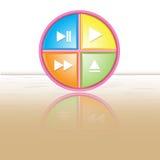 Значок кнопки, отражение Стоковые Изображения