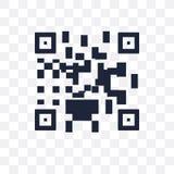 Значок кода Qr прозрачный Дизайн символа кода Qr от Ecommerce c бесплатная иллюстрация