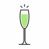 Значок коктеиля Стоковые Изображения RF
