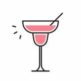 Значок коктеиля Стоковая Фотография