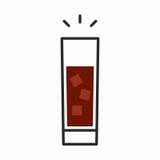 Значок коктеиля Стоковое Изображение RF