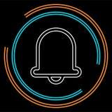 Значок колокола, символ сигнала тревоги сигнала тревоги вектора бесплатная иллюстрация