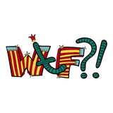Значок комиксов клоуна искусства шипучки Стоковое Изображение