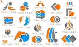 Значок компании логотипа дела установленный Стоковое Изображение