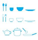 Значок комплекта кухни иллюстрация штока
