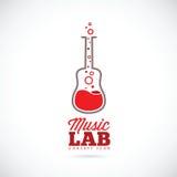 Значок концепции вектора лаборатории музыки Стоковые Фото