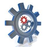 Значок концепции колес шестерни руководства или сыгранности иллюстрация штока