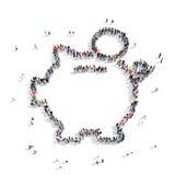 Значок копилки формы людей Стоковое Изображение RF