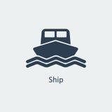 Значок корабля вектор Стоковые Изображения RF