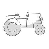 Значок корабля трактора иллюстрация вектора