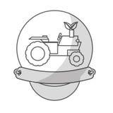 Значок корабля трактора Стоковые Фотографии RF