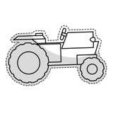 Значок корабля трактора иллюстрация штока
