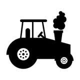 значок корабля фермы трактора Стоковое Фото