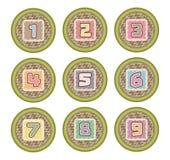 Значок корзины номера для ребенк Стоковое Изображение RF
