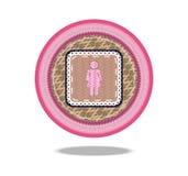 Значок корзины символа женщины Стоковое Изображение RF