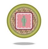 Значок корзины символа человека Стоковая Фотография
