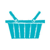 Значок корзины для товаров иллюстрация вектора