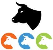 Значок коровы головной Стоковое Изображение RF