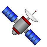 Значок космоса спутниковый на белизне иллюстрация вектора
