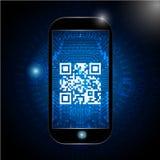 Значок кода Qr, просматривая знак кода qr Стоковое фото RF