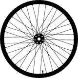 Значок колеса велосипеда Стоковое Фото