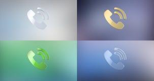 Значок кольца 3d телефона иллюстрация штока