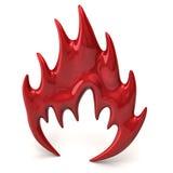 Значок красного огня Стоковые Изображения