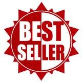 Значок красного цвета самого лучшего продавца Стоковые Фото