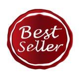 Значок красного цвета самого лучшего продавца Стоковые Изображения