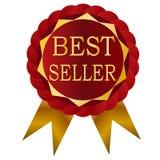Значок красного цвета самого лучшего продавца бесплатная иллюстрация