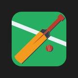 Значок крикетных бит Стоковые Изображения RF