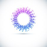 Значок круга дела абстрактный. иллюстрация штока
