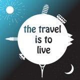 Значок круга света туризма вектора современный Стоковая Фотография RF