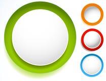 Значок круга с пустым пространством Пустой комплект элемента дизайна круга S бесплатная иллюстрация