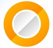 Значок круга с пустым пространством Пустой комплект элемента дизайна круга S иллюстрация вектора