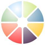 Значок кругового диаграмм, значок диаграммы Элемент для infographic дизайна Стоковая Фотография RF