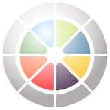 Значок кругового диаграмм, значок диаграммы Элемент для infographic дизайна иллюстрация штока